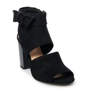 New Lauren Conrad Pudding Black High Heels Booties